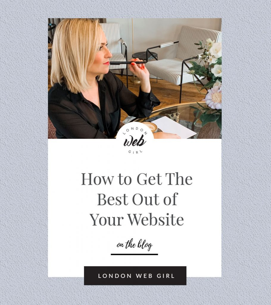 Image for pinterst pinning on subject: How to Get The Best Out of Your Website